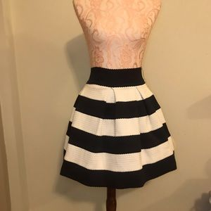 Black & White striped skirt